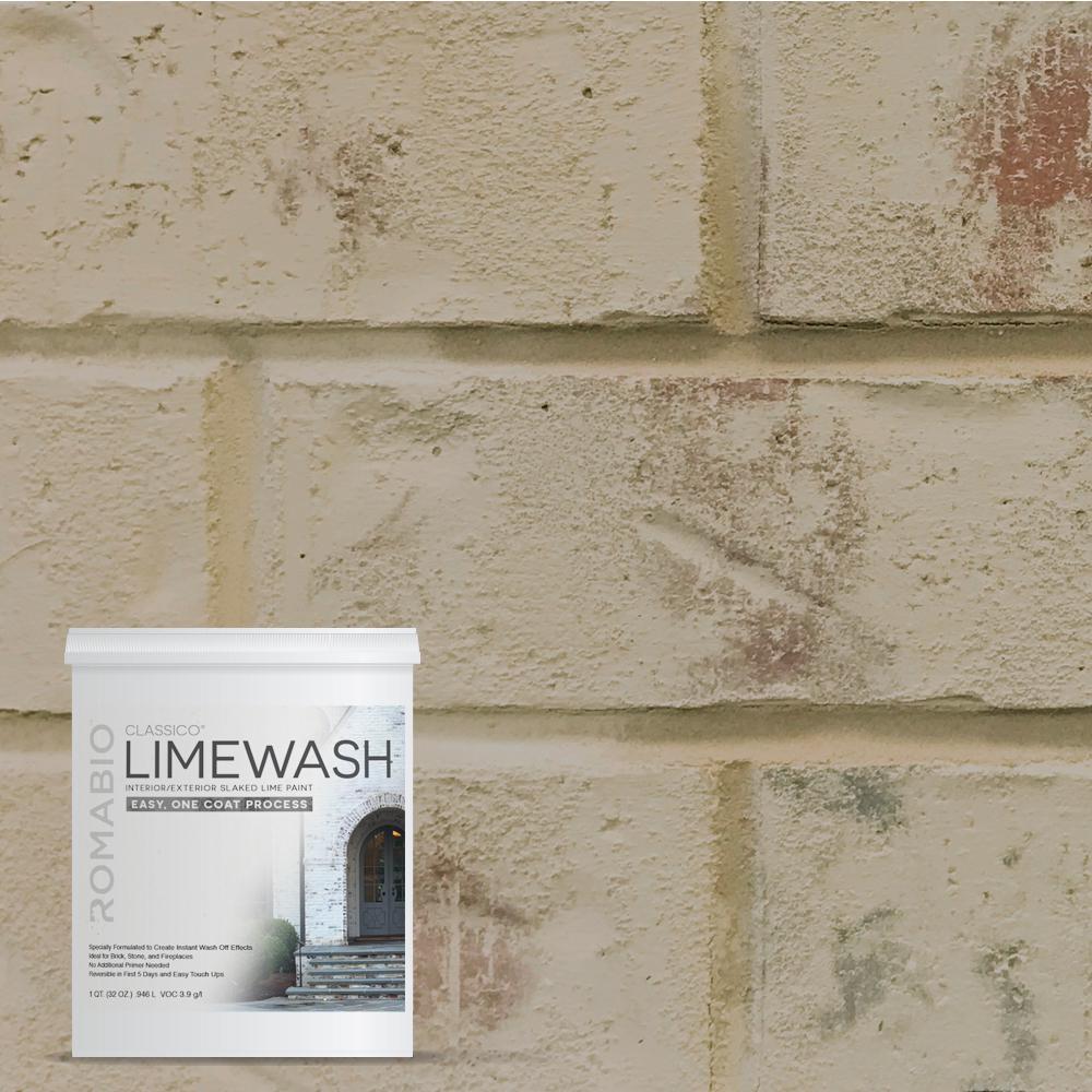 romabio 1 qt toscana beige limewash interior exterior paint 10117