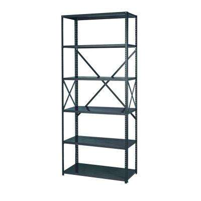 85 in. H x 36 in. W x 24 in. D 6-Shelf Steel Commercial Shelving Unit in Gray