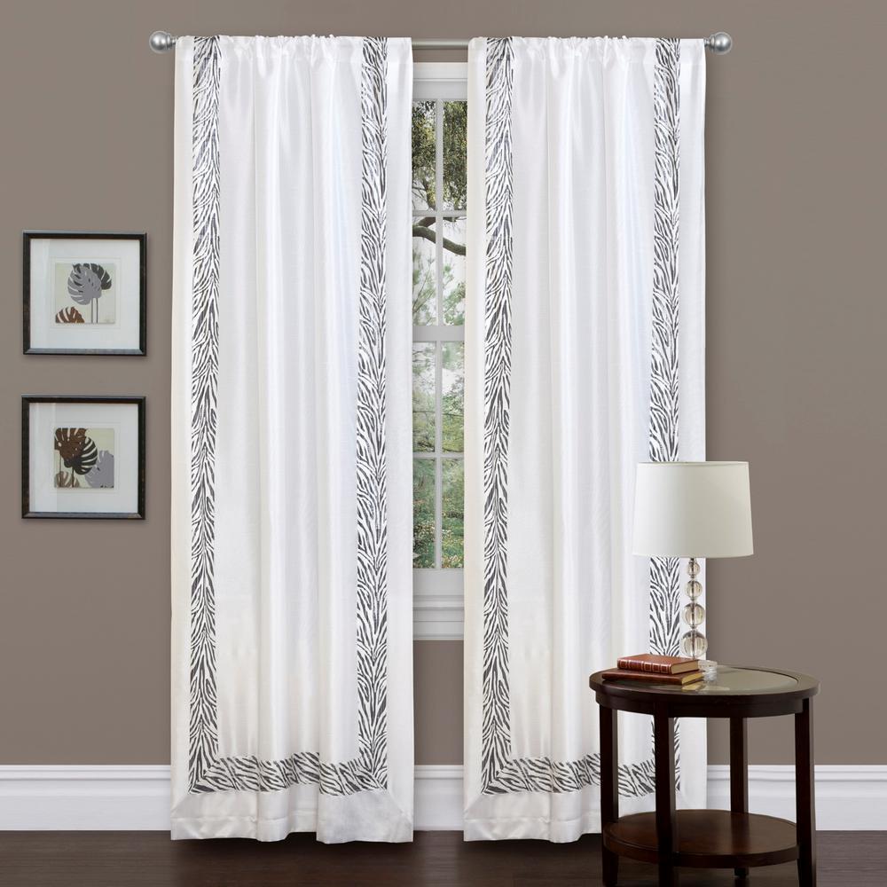Decorative Window Panels : Lush decor urban savanna window panel in gray l