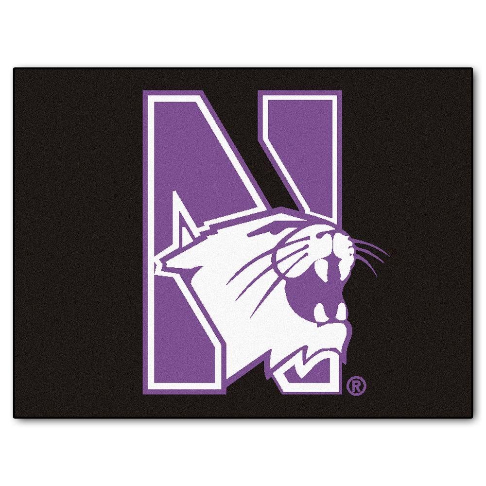 FANMATS Northwestern University 2 ft. 10 in. x 3 ft. 9 in. All-Star Rug