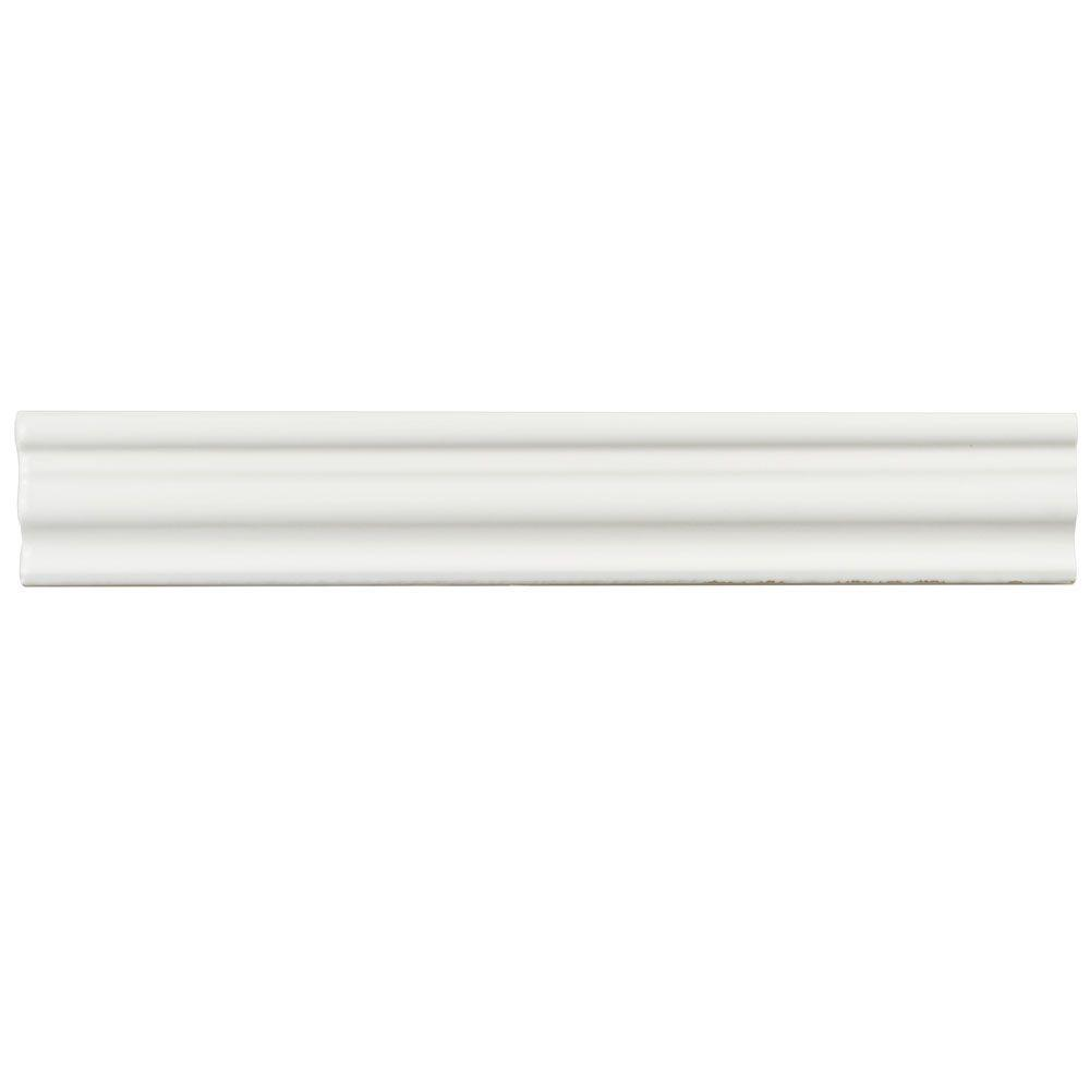 Merola Tile Chester Bianco 2 In. X 12 In. Chair Rail