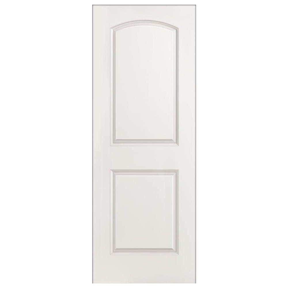 Masonite 24 in x 80 in roman 2 panel round top split - Home depot interior doors prehung ...