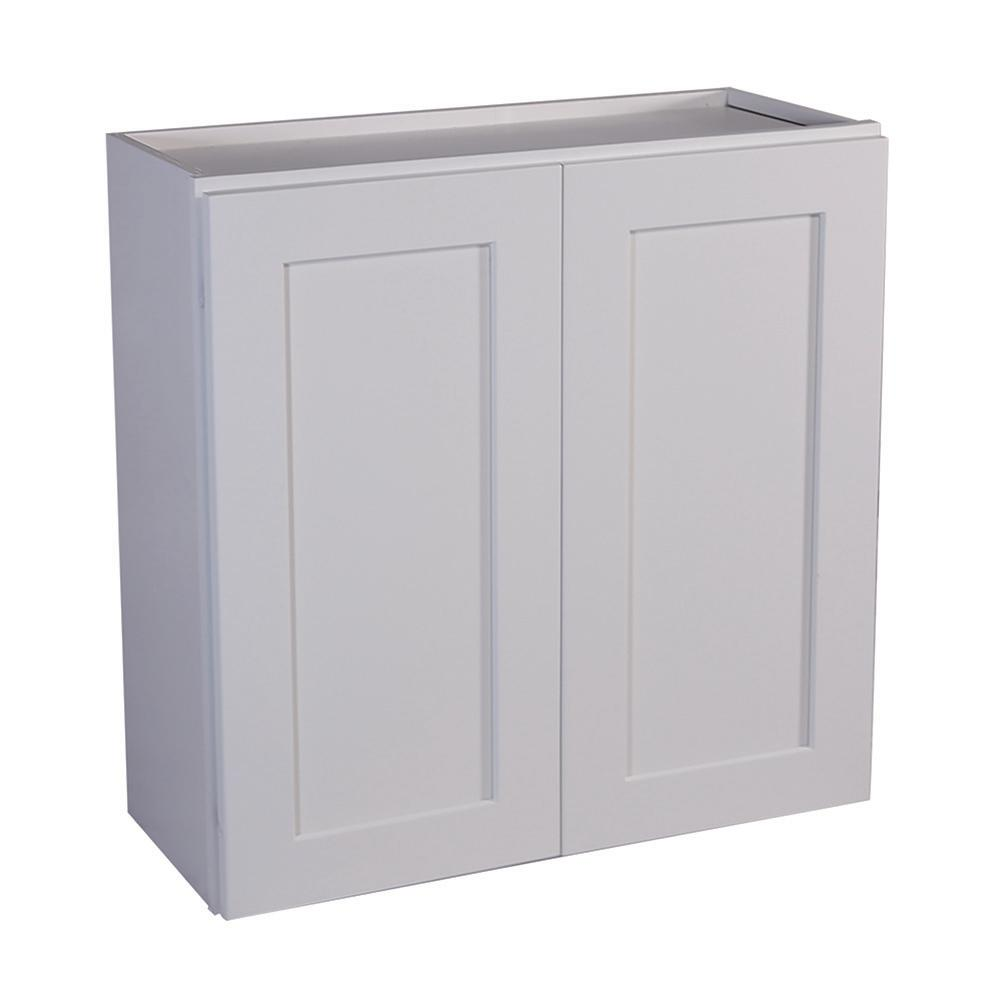 Design House Brookings Ready To Assemble 33x36x12 In Shaker Style Kitchen Wall Cabinet 2 Door In White