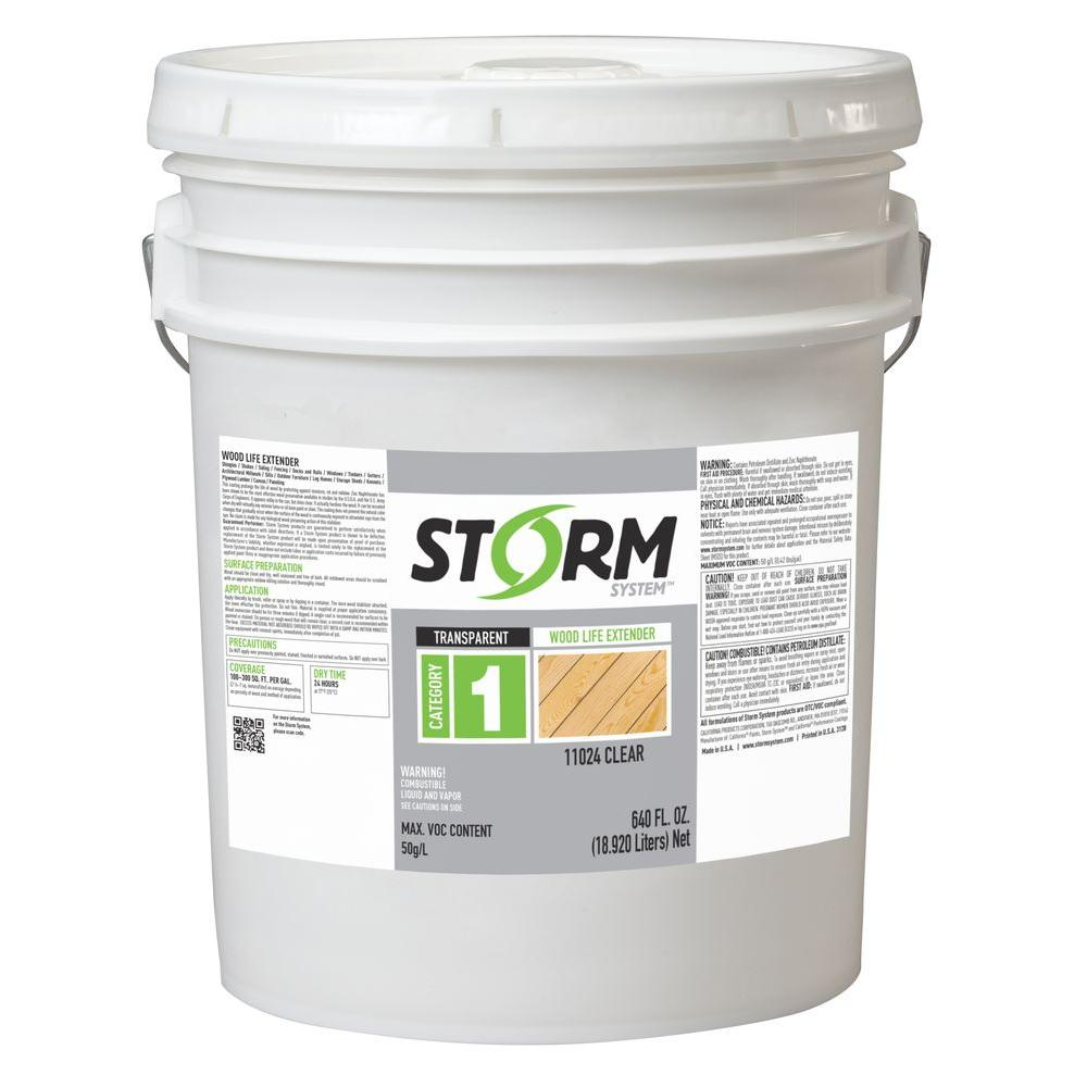 Storm system gal clear exterior wood life extender