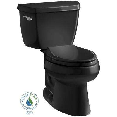 Wellworth Classic 2-piece 1.28 GPF Single Flush Elongated Toilet in Black