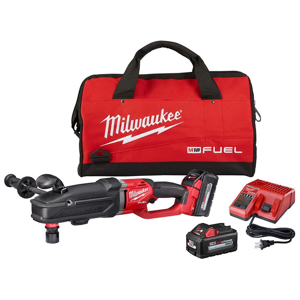 Milwaukee Milwaukee M18 FUEL 18-Volt Lithium-Ion Brushless Cordless GEN 2 SUPER HAWG 7/16 in. Right Angle Drill QUIK-LOK Kit