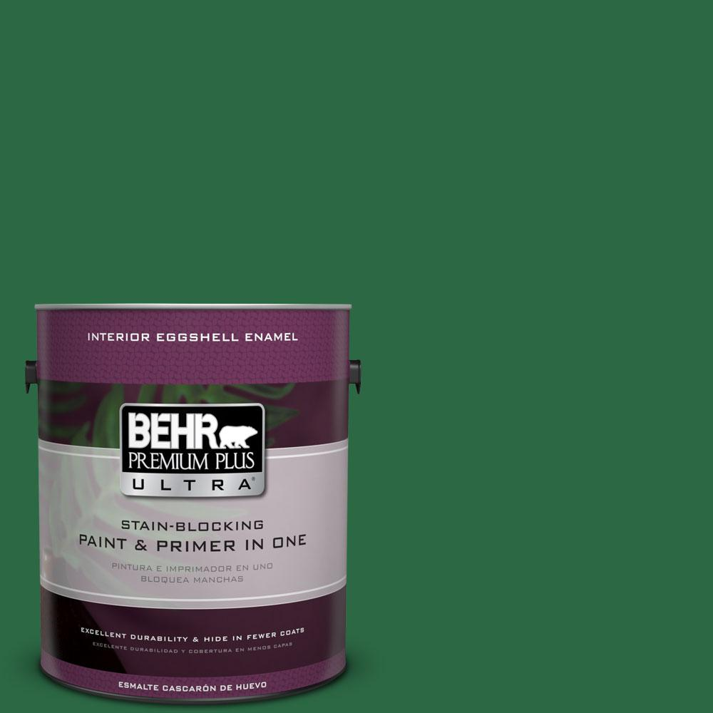 BEHR Premium Plus Ultra 1-gal. #S-H-460 Chopped Chive Eggshell Enamel Interior Paint