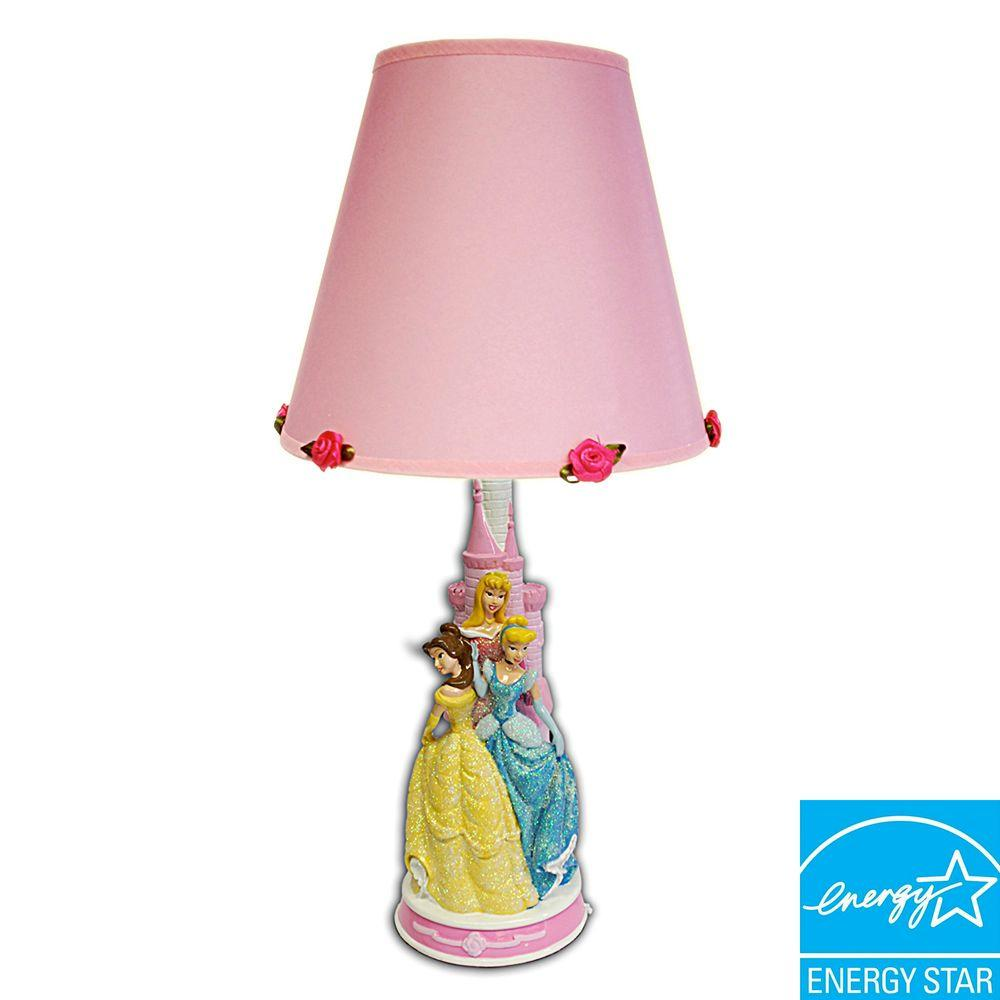 Disney 14 in. Princess Figural Lamp with Decorative Shade-DISCONTINUED