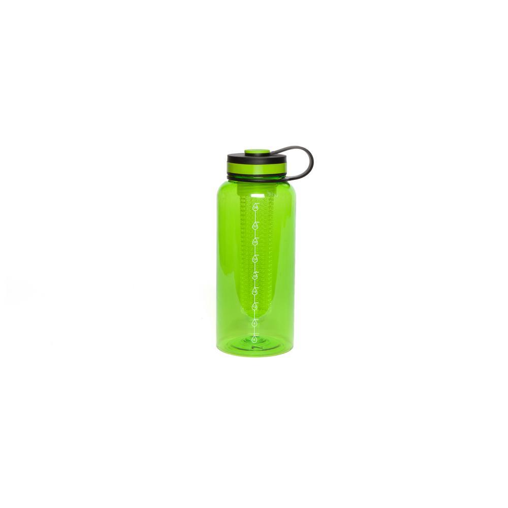 Manna 37 oz. Green Tritan Infuser Water Bottle HD18130