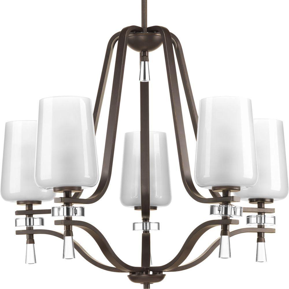 Indulge Collection 5-Light Antique Bronze Chandelier
