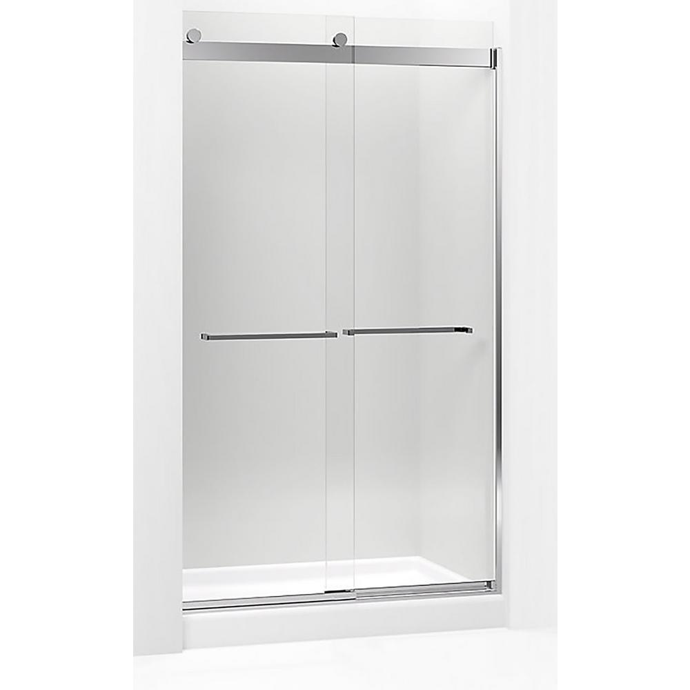 Levity 47.625 in. W x 82 in. H Frameless Sliding Shower