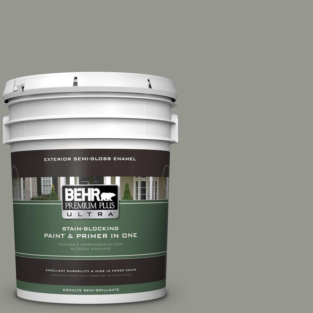 BEHR Premium Plus Ultra 5-gal. #ECC-36-1 Shady Willow Semi-Gloss Enamel Exterior Paint