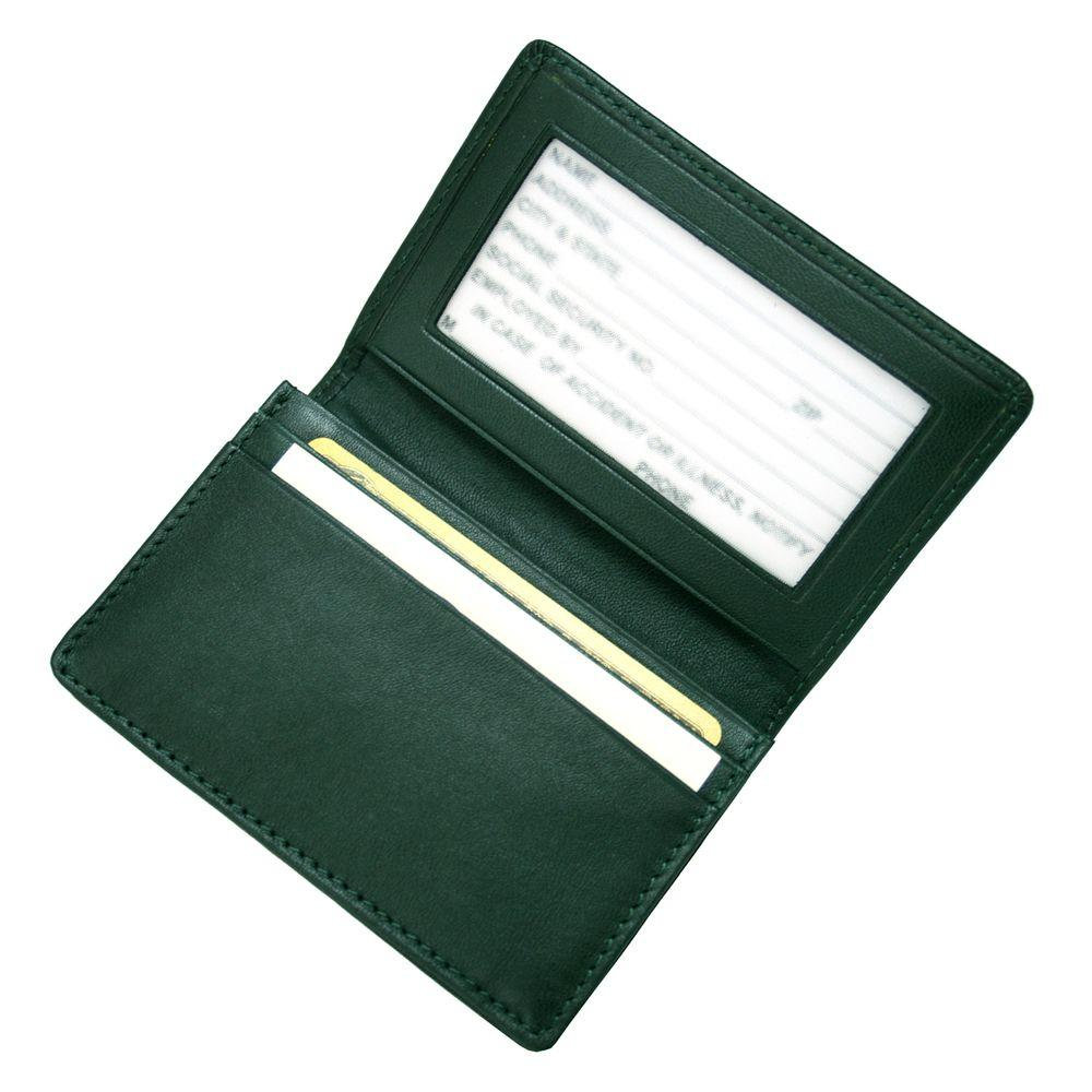 Royce Executive Business Card Case in Genuine Leather-405-GREEN-5 ...