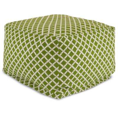 Sage Bamboo Indoor/Outdoor Ottoman Cushion