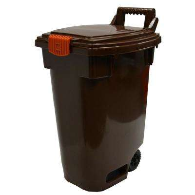 Organic Wheeled Brown Indoor/Outdoor Recycling Bin