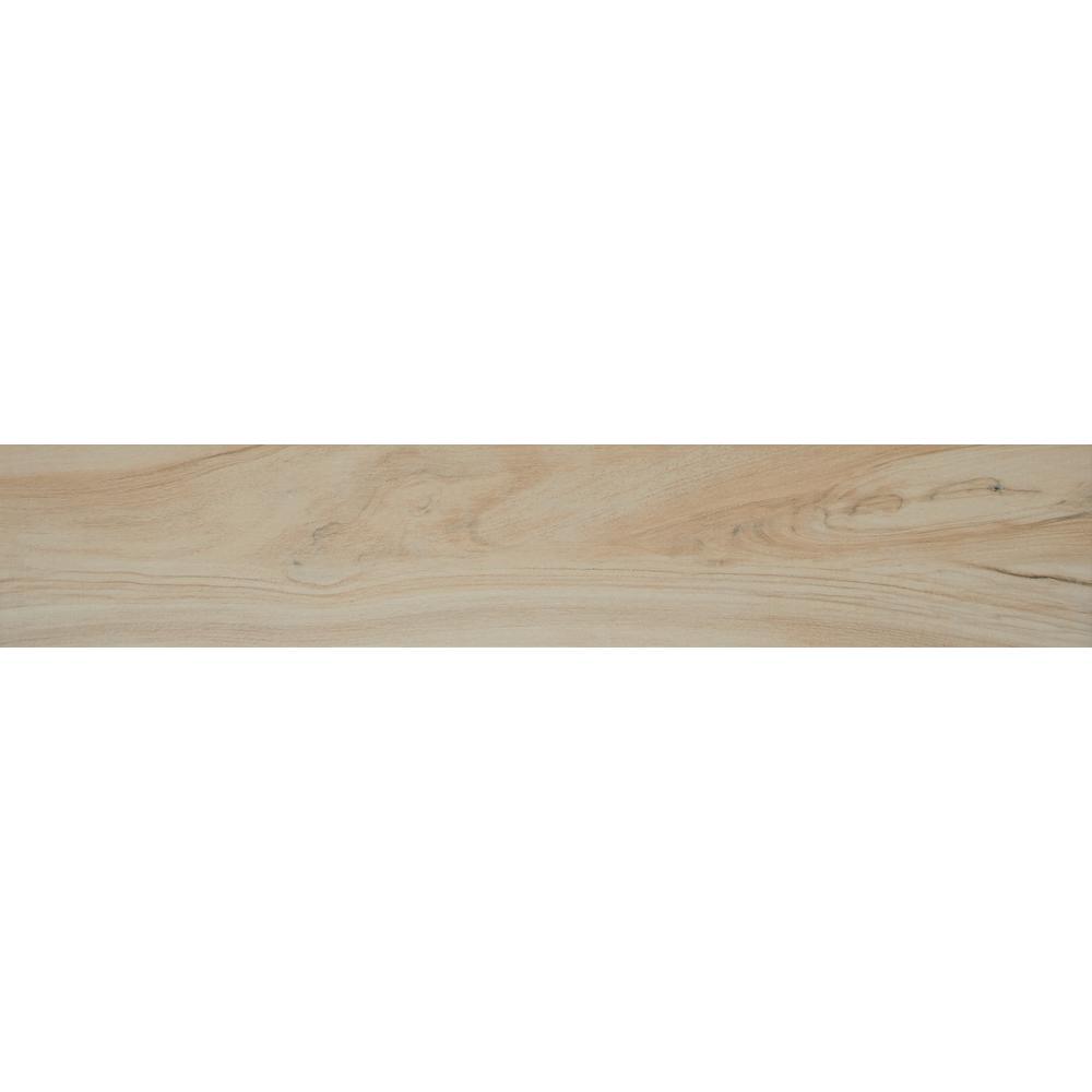 Aspenwood Artic 9 in. x 48 in. Glazed Porcelain Floor and