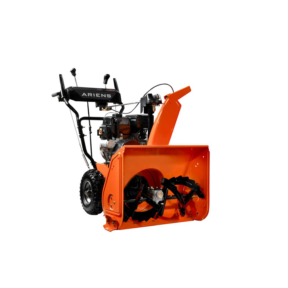 Snow Blower 24 >> Ariens Classic 24 in. 2-Stage Electric Start Gas Snow Blower-920025 - The Home Depot