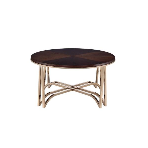Amelia Walnut and Champagne Coffee Table