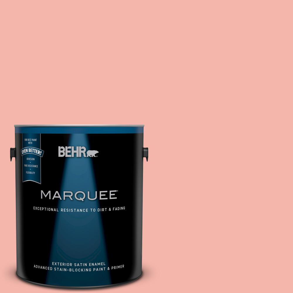 BEHR MARQUEE 1 gal. #P180-3 Pink Mimosa Satin Enamel Exterior Paint ...