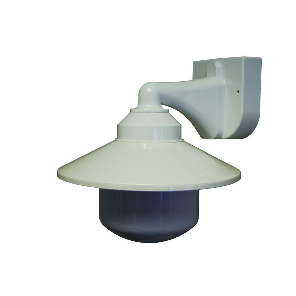 1-Light White Outdoor Long Neck Wall Bracket Fixture