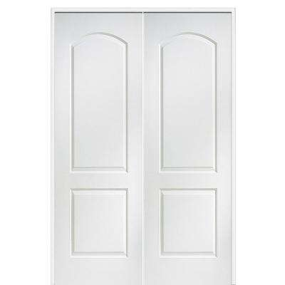 60 in. x 96 in. Smooth Caiman Both Active Solid Core Primed Molded Composite Double Prehung Interior Door