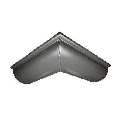 6 in. Half Round Bronze Aluminum Outside Miter