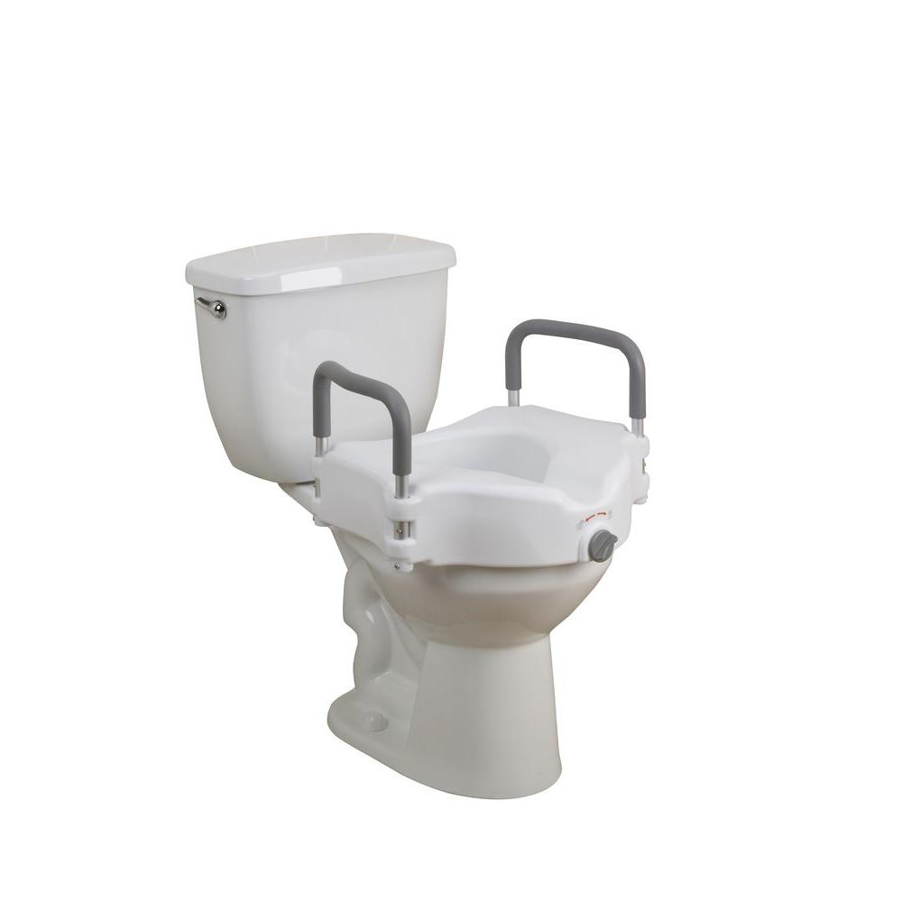 Sensational Drive Elevated Raised Toilet Seat With Removable Padded Arms Inzonedesignstudio Interior Chair Design Inzonedesignstudiocom
