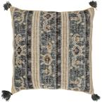 Oskin Grey Graphic Polyester 3In. x 3In. Throw Pillow