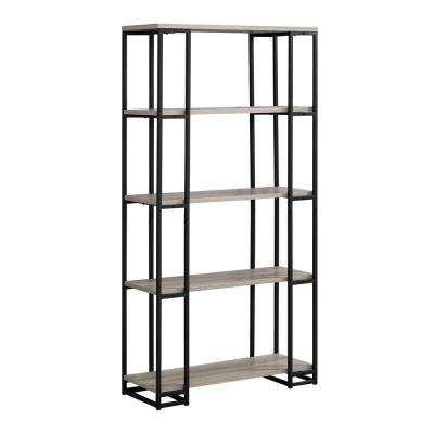 Dark Taupe with Black Metal Etagere