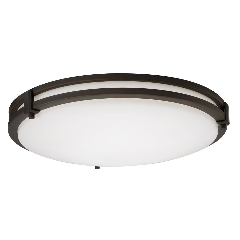 Lithonia Lighting Saturn 1Light Bronze Fluorescent Flushmount