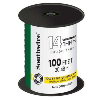 100 ft. 14 Green Stranded CU THHN Wire