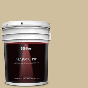 Behr Marquee 5 Gal S320 3 Final Straw Flat Exterior Paint Primer 445405 The Home Depot