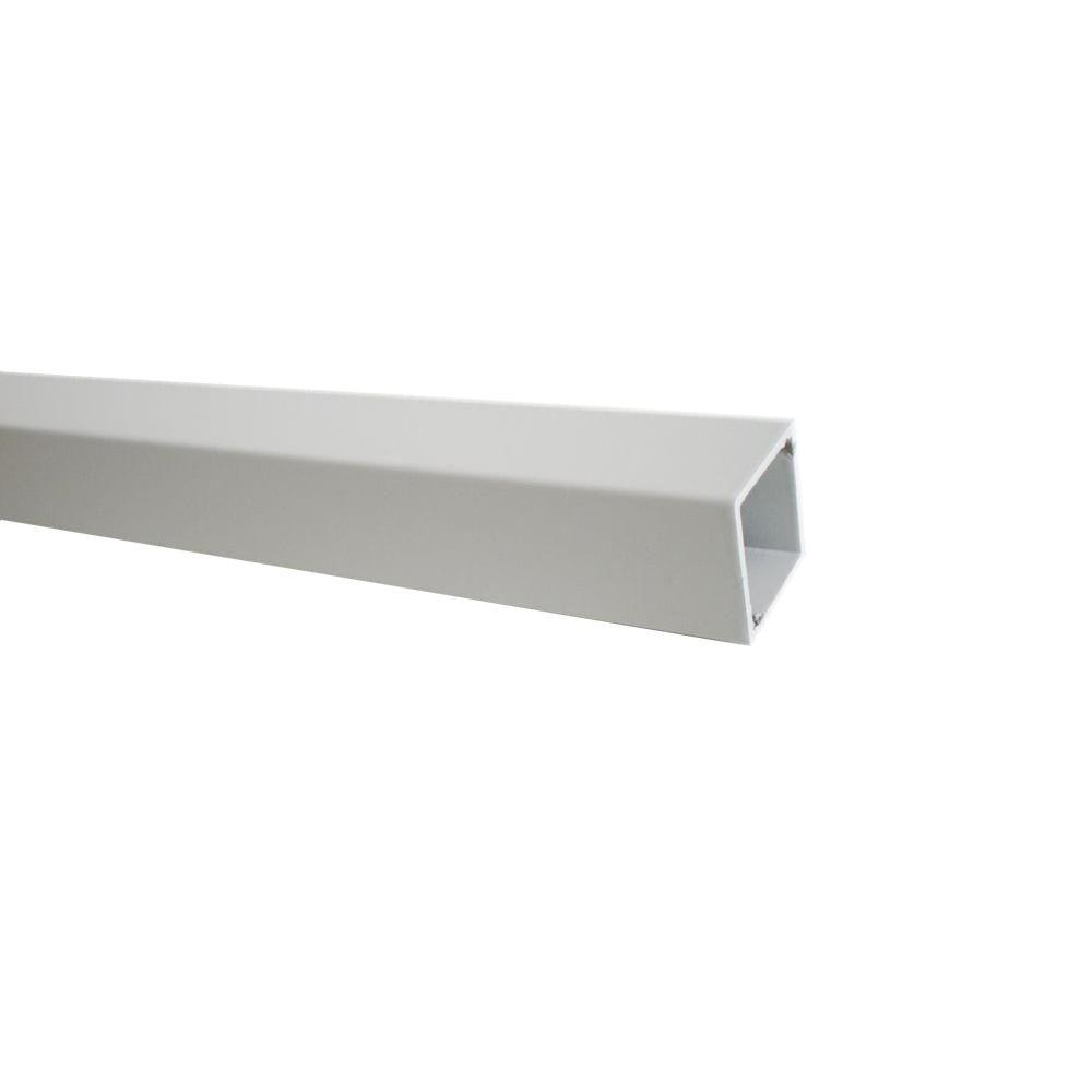 26 in. x 3/4 in. White Aluminum Square Satin Smooth Deck