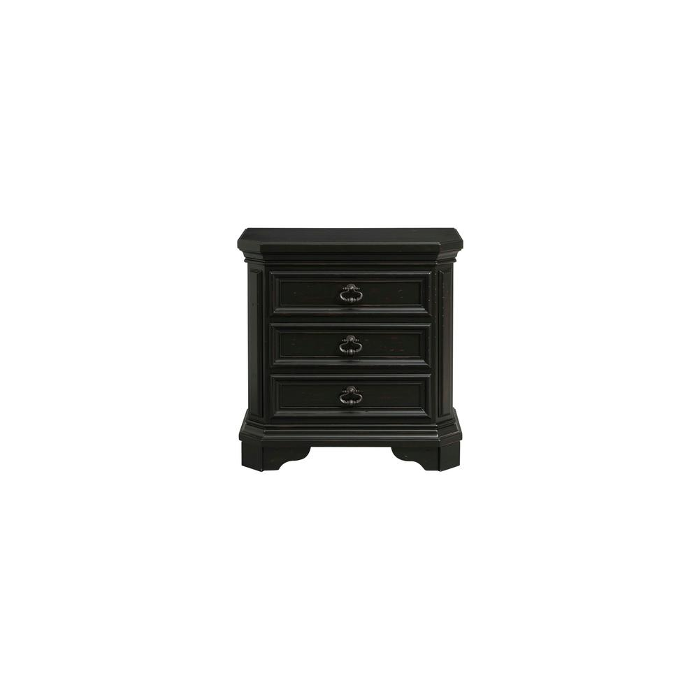 Bradshaw 3 Drawer Nightstand With USB In Espresso