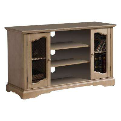 Beige TV Stand with Storage