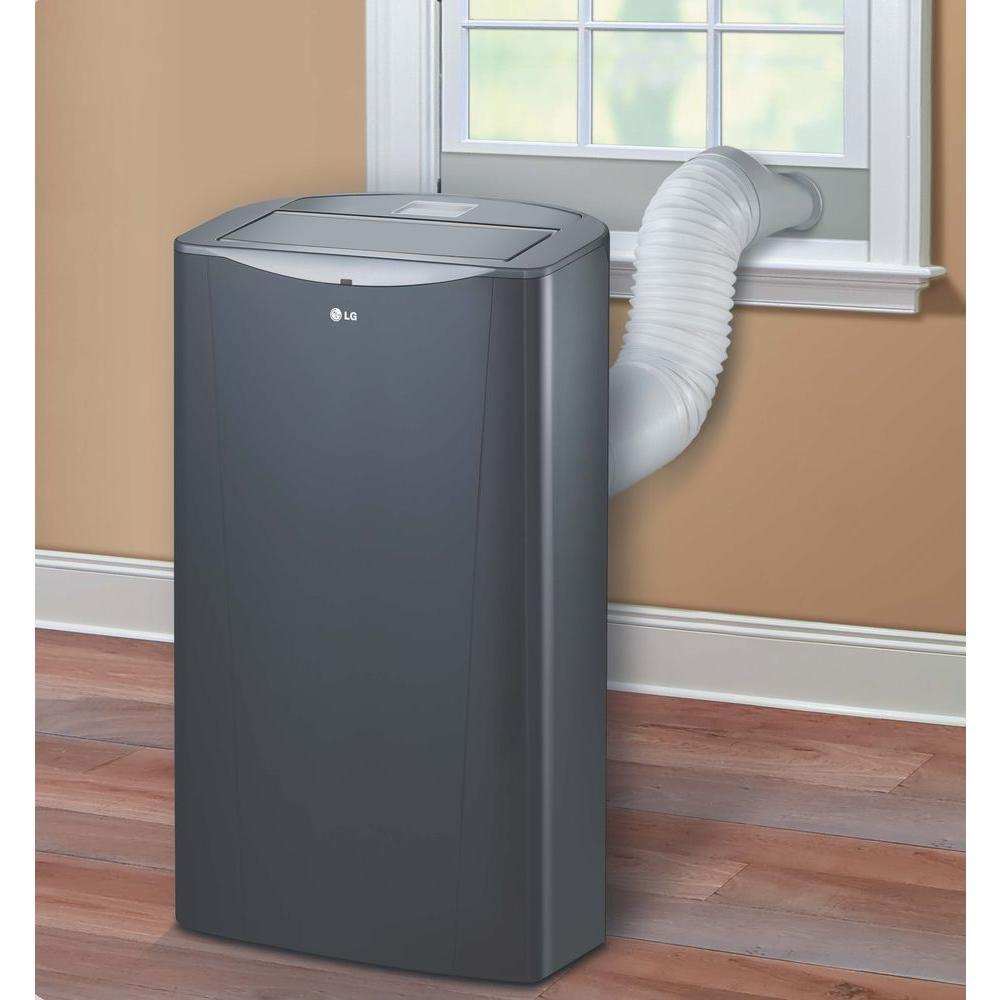 Lg Electronics 14 000 Btu Portable Air Conditioner And Dehumidifier Function With Remote In Graphite Gray