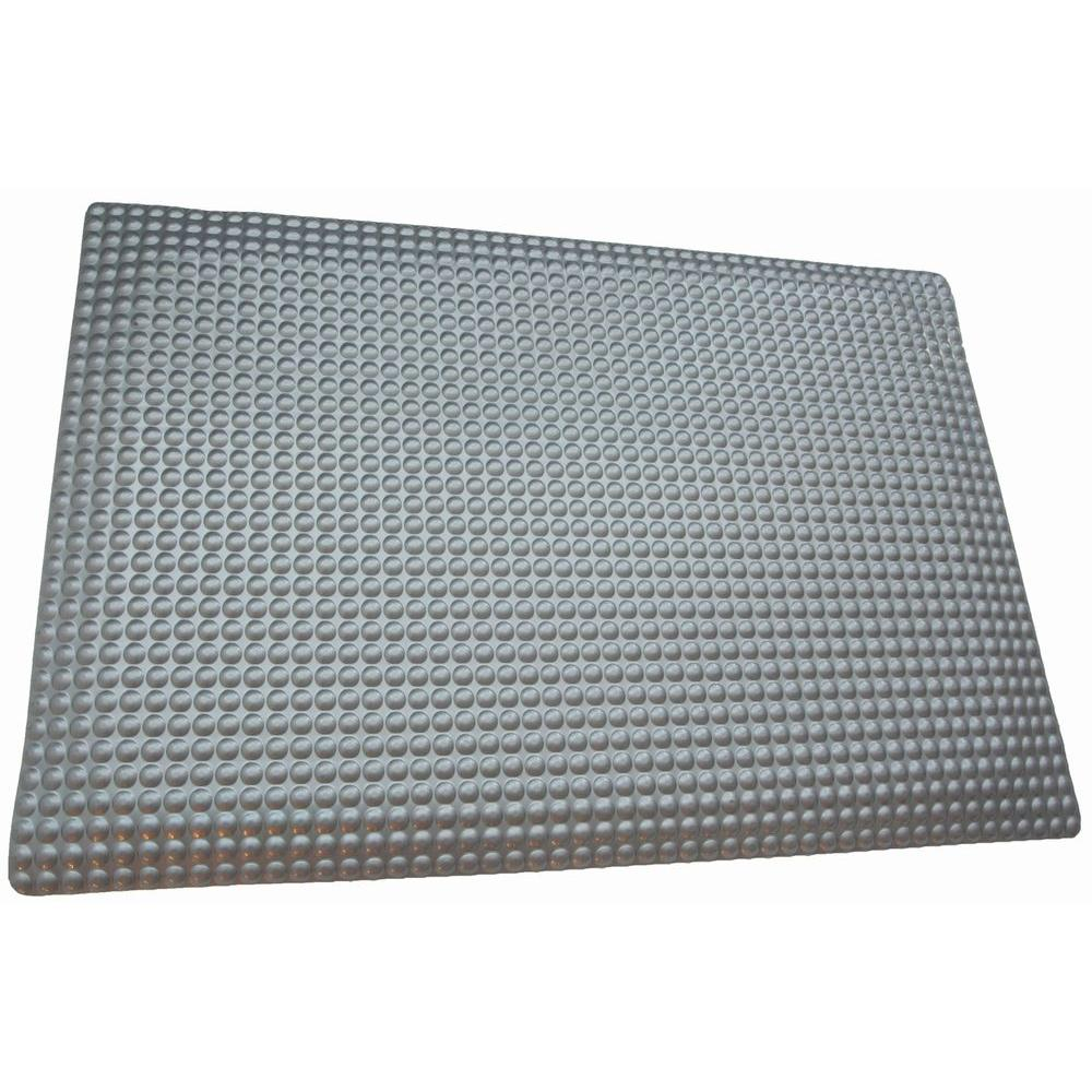 Rhino Anti Fatigue Mats Reflex Glossy Platinum Raised Domed Surface 24 In.  X 72