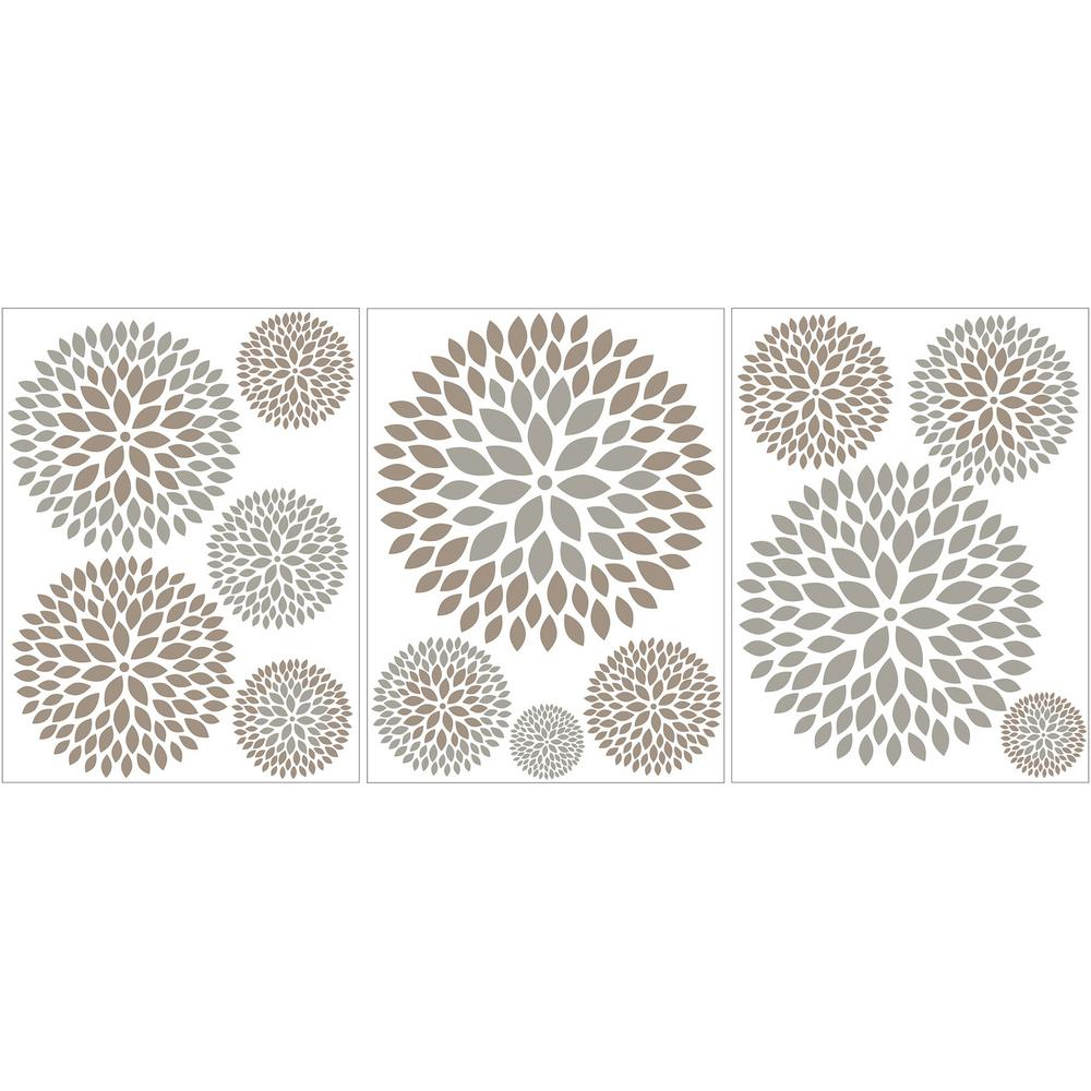 39 in. x 17.25 in. Starburst Wall Decal