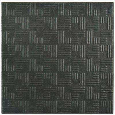 Area 15 Graphite 6 in. x 6 in. Porcelain Floor and Wall Tile (11.94 sq. ft. / case)