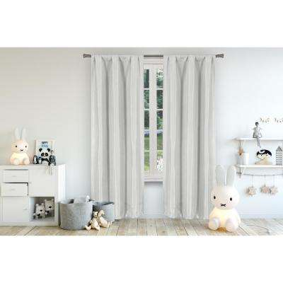 Miranda 37 in. W x 96 in. L Polyester Window Panel in Grey