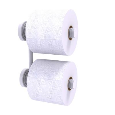 Waverly Place Collection 2 Roll Reserve Roll Toilet Paper Holder in Matte White