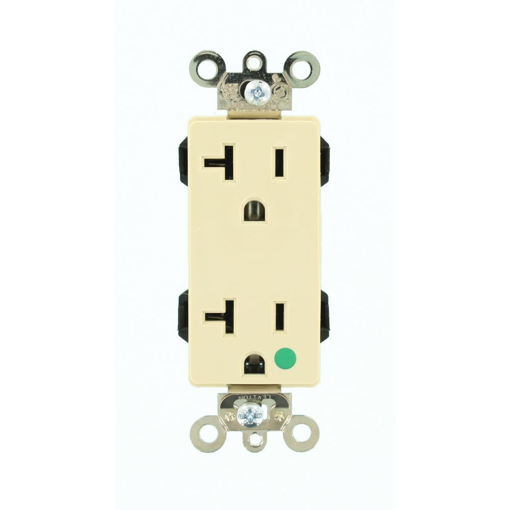Leviton Decora Plus 20 Amp Lev Lok Modular Wiring Device Hospital Outlet Receptacle Grade Extra Heavy Duty