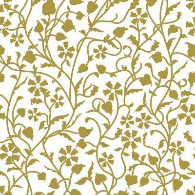 Creative Covering 18 in. x 20 ft. Mercedes Antique Gold Self-Adhesive Vinyl Drawer and Shelf Liner (6 rolls)