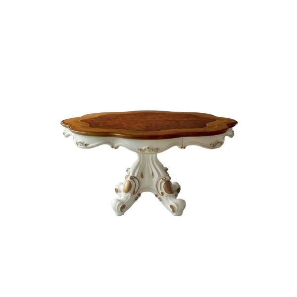 Picardy Antique Pearl and Cherry Oak Dining Table
