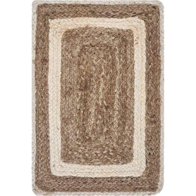 Bordered Bleach / Natural 19 in. x 13 in. Jute Placemat (Set of 4)