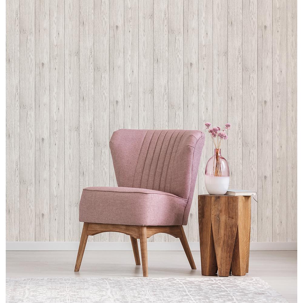 56.4 sq. ft. Mammoth White Lumber Wood Wallpaper