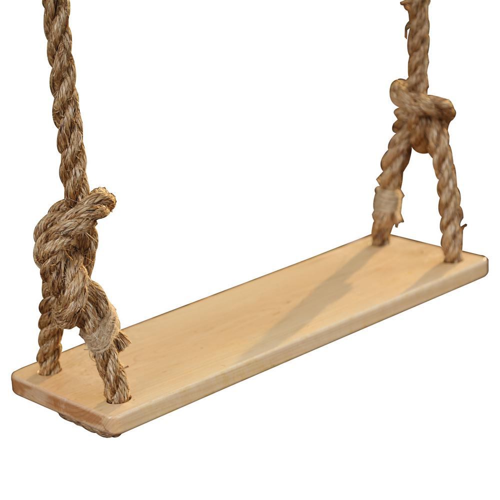 Adventure Parks Classic Specialty Swing Hard Maple Deck with Rope