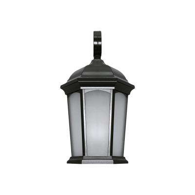 Black Outdoor Integrated LED Wall Lantern Sconce in Soft White