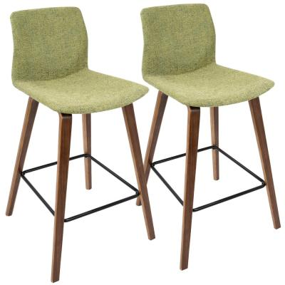 Miraculous Green Wood Lumisource Bar Stools Kitchen Dining Pabps2019 Chair Design Images Pabps2019Com