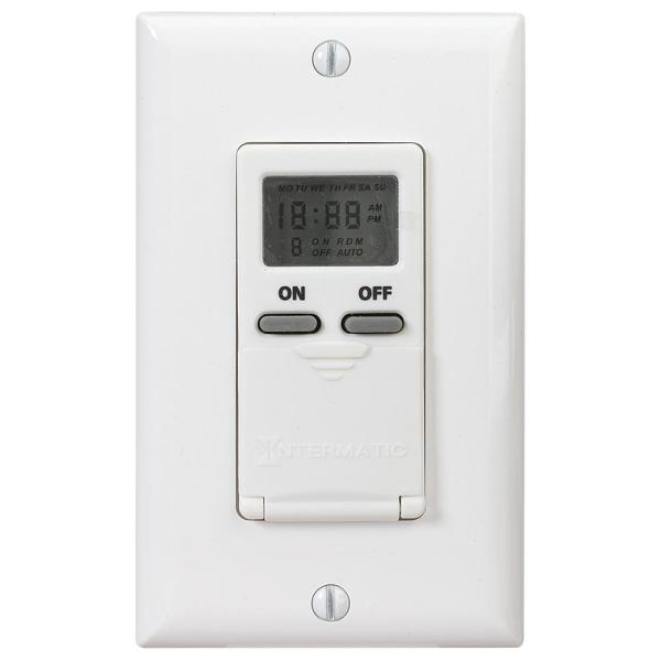 15 Amp Decorator Auto-Off In-Wall Digital Timer